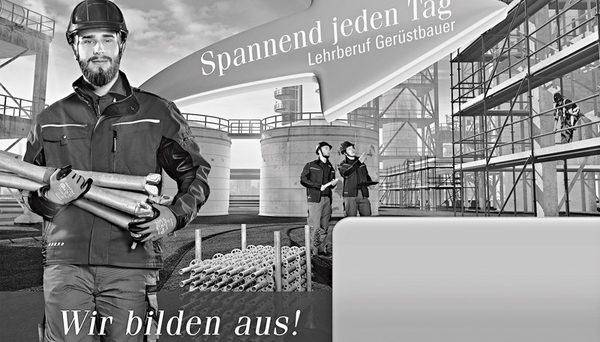 Werbematerial für Gerüstbauer zur Nachwuchsakquise. geruest.com news 20171016