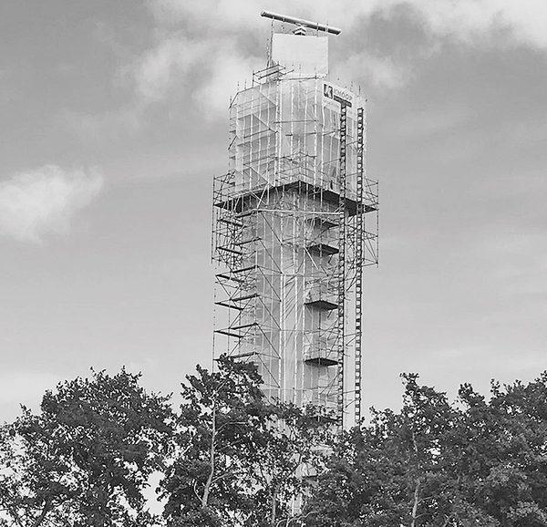 Radarturm mit Plettac contur Modulgerüst geruest.com