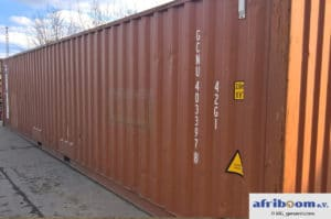 Dieser Container steht auf dem Firmengelände der cetrac GmbH in Leipzig und soll mit Sachspenden für unser Schulprojekt in Kamerun gefüllt werden.