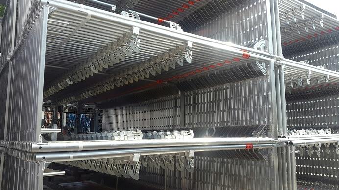 79m fassadenger st layher blitz system neuwertig aus aluminium kaufen. Black Bedroom Furniture Sets. Home Design Ideas