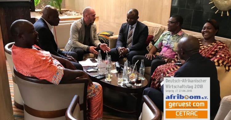Deutsch Afrikanischer Wirtschaftstag 27.06.2018 in Leipzig mit Unterstützung von Cetrac GmbH und geruest.com