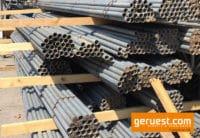 Gebrauchte Gerüstrohre aus Stahl kaufen mit 48mm Durchmesser 4m 5m 6m Länge