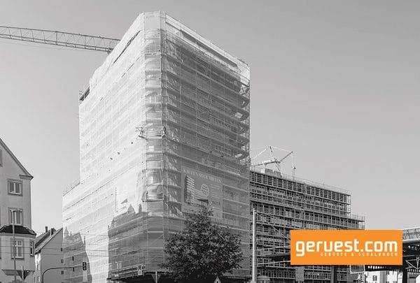 Der Rohbau des Wohn und Geschäftshauses Ypsilon mit seinem 35 m hohen Turmgebäude und angrenzendem Längstrakt wurde im Juli 2018 fertiggestellt