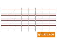Layher Blitz Gerüst 210 qm 3,07 m Robustbelägen