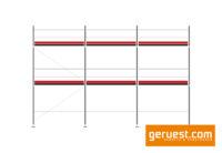 ayher Blitz Gerüst 48 qm mit 2,57 m Robustböden