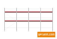 Ansicht Layher Blitz Gerüst 63,7 qm mit 2,57 m Robustbelägen