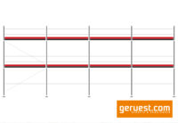 Layher Blitz Gerüst 76 qm mit Robustböden 3,07 m
