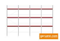 Layher Blitz Gerüst 84 qm mit 2,57 m Feldlänge