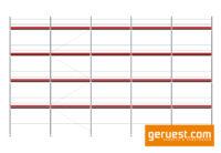 Layher Blitz Gerüst 157 qm mit 3,07 m Robustbelägen _ Ansicht