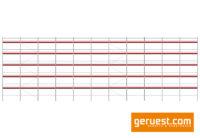 Ansicht mit 3,07 m Robustbelägen _ Layher Blitz Gerüst 344 qm