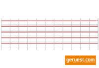 Ansicht mit Stahlbelägen 3,07 m _ Layher Blitz Gerüst 344 qm SB