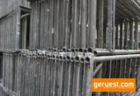 B-Vertikalrahmen 200 _ 46,5 qm Hünnebeck Bosta Gerüst mit 2,50 m Holzbelägen