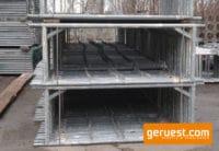 B Vertikalrahmen _ Hünnebeck Bosta Gerüst 55,8 qm mit 3,00 m Vollholzbohlen