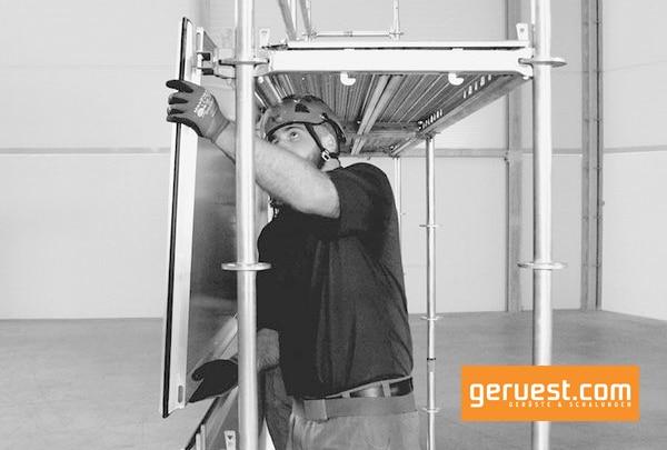 Das Protect-System lässt sich in die Layher Gerüstsysteme Blitz und Allround einfach integrieren