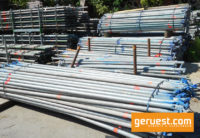 Diagonalen 3,18 m_ Layher Allround Gerüst 603 qm mit 2,57 m Stahlbelägen