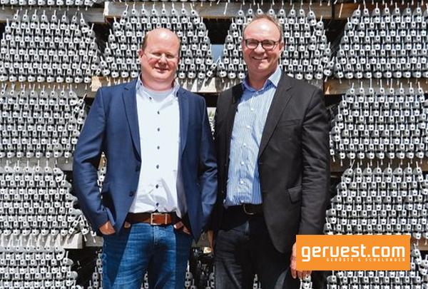 Die Geschäftsführung Altrad plettac assco mit Ulrich Lawory (l.) und Ralf Deitenberg _ News auf geruest.com