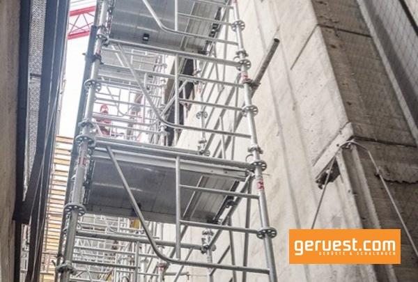 Die variable Aufbauhöhe sowie die Spindelhöhe an Kopf- und Fußspindel verleihen dem ST 60 Stützturm hohe Einsatzflexibilität