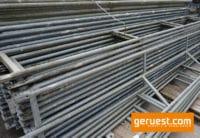 Doppelgeländer 4,14 m Stahl _ Layher Gerüstteile