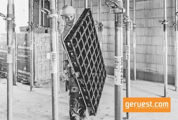 Durch das geringe Gewicht maximal 25 kg lassen sich alle Peri Duo Systemteile einfach heben und transportieren
