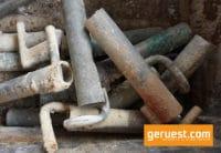 Gerüsthalter kurz geflext Stahl - gebrauchte Gerüstteile