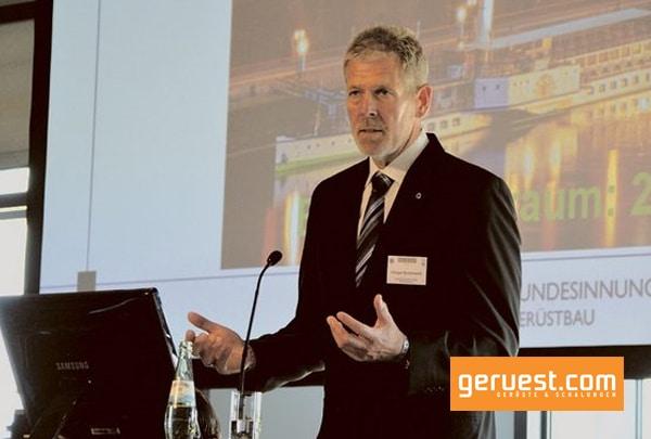 Holger Budoweit _ stv Bundesinnungsmeister und Vizepräsident des Gerüstbauverbandes für den Bereich Technik