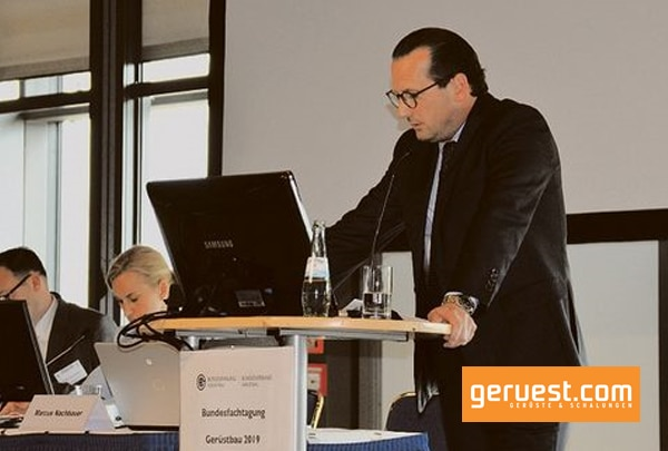 Marcus Nachbauer, Präsident des Bundesverbandes Gerüstbau und Bundesinnungsmeister, eröffnete die Tagung.
