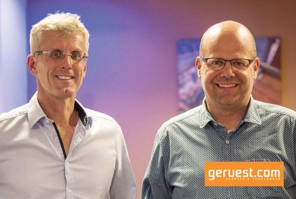 Michael Nordmeier (l.), technischer Leiter bei der Rux GmbH, und Marco Hiby, Mitglied der Geschäftsleitung.