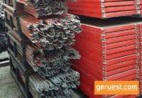 Rückengeländer und Alu-Rahmentafeln _ Plettac SL Gerüst 153 qm mit Holzrahmentafeln