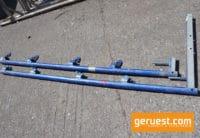 chutzgitterstütze 2,00 m _ kurze Belagsicherung _ mit Bordbretthalter _ Layher Gerüstteile