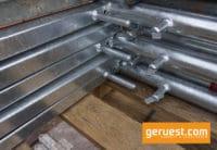 Schutzgitterstütze SL 70 - 306 qm Plettac SL Dachfanggerüst mit 2,50 m Holzböden