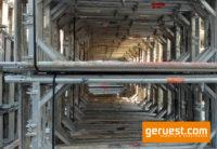 Stellrahmen Alu _ Plettac SL Alu Gerüst 204 qm mit 2,50 m Robustbelägen