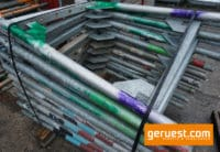 Stellrahmen Stahl für Layher Blitz Gerüst _ 1,00 x 0,73 m_ defekt