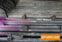Stellrahmen Stahl für Layher Blitz Gerüst _ 1,50 x 1,09 m _ gebraucht mit kleinen Kästchen