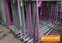 Stellrahmen Stahl für Layher Blitz Gerüst _ 2,00 x 1,09 m_ defekt