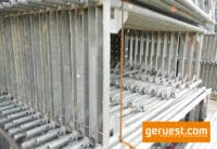 Stellrahmen Stahl für Layher Blitz Gerüst _ 200x73 _ defekt