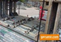Stellrahmen Stahl mit kleinen Kästchen für Layher Blitz Gerüst _ 200x73 _ gebraucht