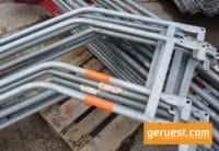 Treppengeländer 2,57 m Feld Stahl - Layher Gerüstteile