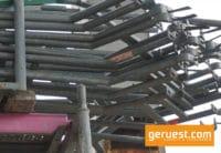 Treppeninnengeländer 2,57 _ 3,07 m für 2,00 m Feldhöhe - Layher Gerüstteile