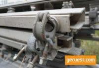 U-Profil 3,00 m mit Halbkupplungen Alu gebraucht - Layher Gerüstteile