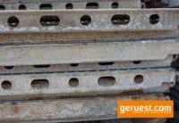 U-Stahlboden verschmutzt _ 3,07 x 0,32 m _ Layher