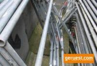 Vertikalrahmen 150 x 110 Stahl _ Plettac SL Gerüst gebraucht