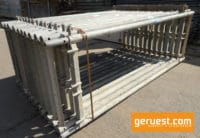Vertikalrahmen 2,00 x 0,65 m gebraucht - 255 qm Rux Super Dachfanggerüst mit 2,50 m Holzbelägen