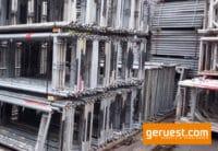 Vertikalrahmen SL B74 _ Plettac SL Gerüst 127,5 qm mit Holzböden