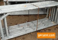 Vertikalrahmen Stahl _ 102 m² Hünnebeck Bosta 70 Gerüst mit 2,50 m Stahlbelägen