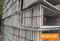 Vertikalrahmen Stahl _ 408 qm Rux Super 65 mit 2,50 m Holzbohlen