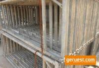 Vertikalrahmen Stahl _ 77,5 qm Hünnebeck Bosta 70 Gerüst mit 2,50 m Vollholzbohlen