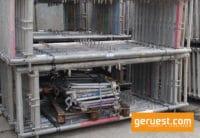Vertikalrahmen Stirngeländer - 510 qm Rux Super Dachfanggerüst mit 2,50 m Belagbohlen