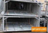 Vertikalrahmen _ Hünnebeck Bosta Gerüst 65,6 qm mit 2,00 m Vollholzbohlen