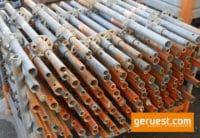 Vertikalstiel 1,00 m gebraucht mit Rohrverbinder - Layher Gerüstteile