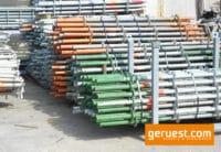 Vertikalstiel 2,00 m gebraucht mit Rohrverbinder - Layher Gerüstteile